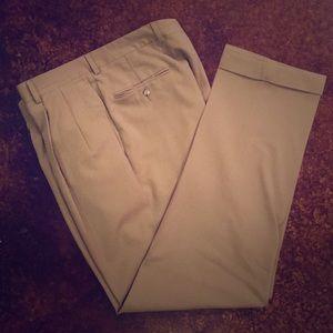 JoS. A. Banks pleated cuffed slacks Sz 36W 34L